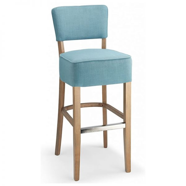 Gosost Fabric and Wood Kitchen Bar Stool - Teal