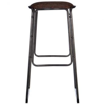 4 x Bolton Fixed Height Faux Leather Wooden Bar Stool