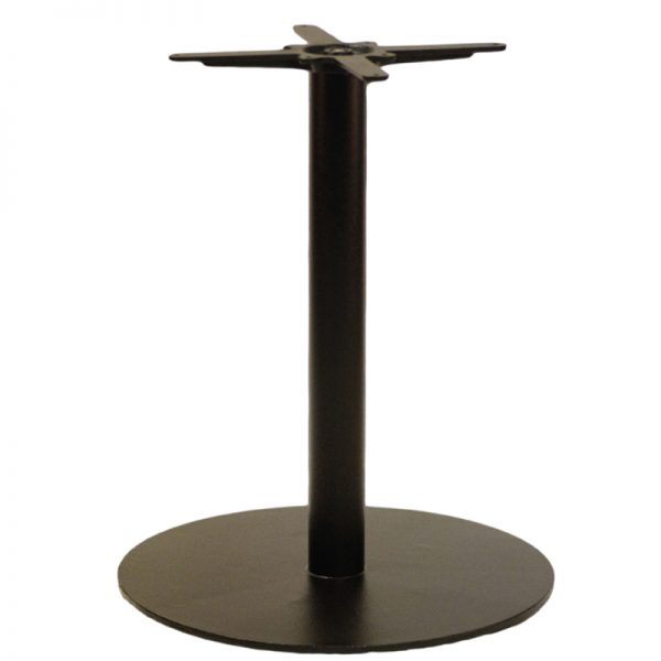 Gorzan Large Round Cast Iron Bar Fixed Floor Commercial Table Base - 73cm