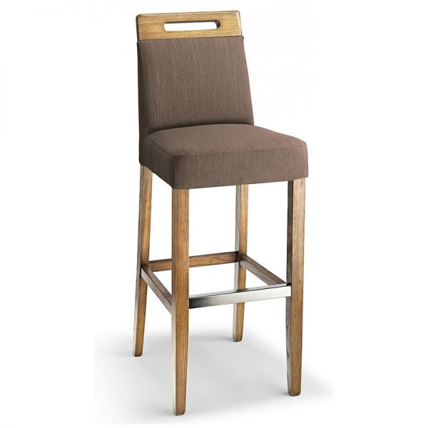 Modosi Fabric and Wood Dining Chair - Brown
