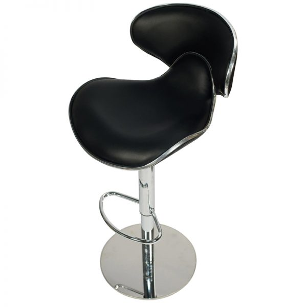 Deluxe Weighted Caribbean Bar Stool - Black