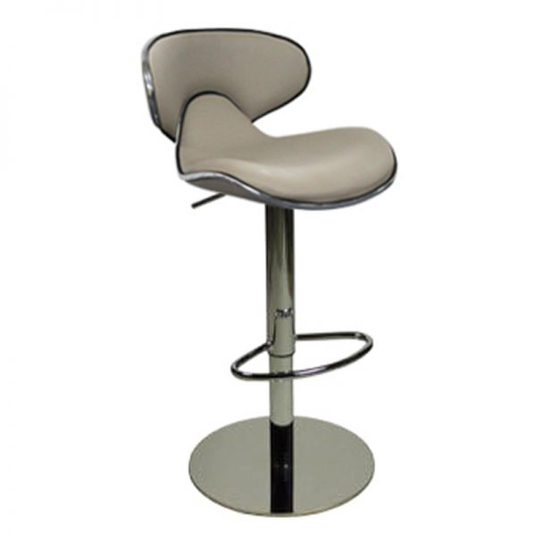 Deluxe Weighted Caribbean Bar Stool - Grey