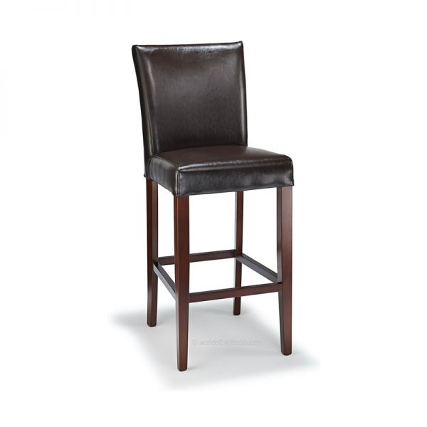 Deule Real Leather Kitchen Bar Stool - Brown