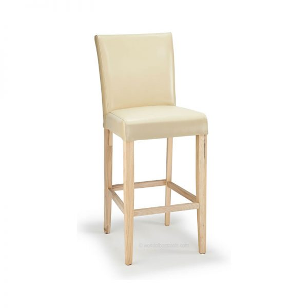Deule Real Leather Kitchen Bar Stool - Cream