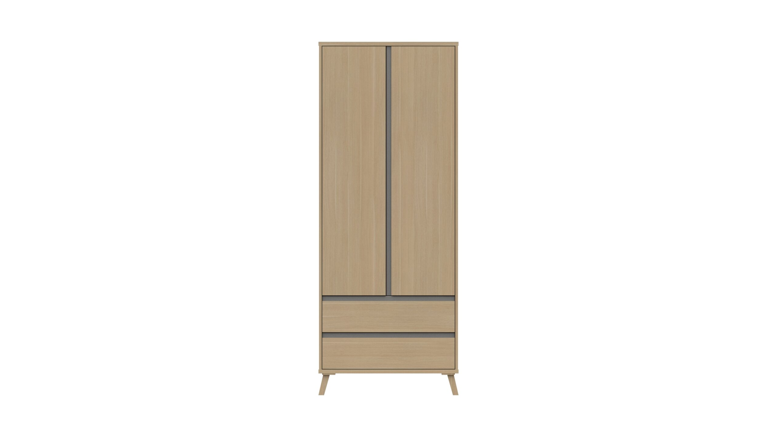 Tamarine Two Door Two Draw Wardrobe - Natural Oak