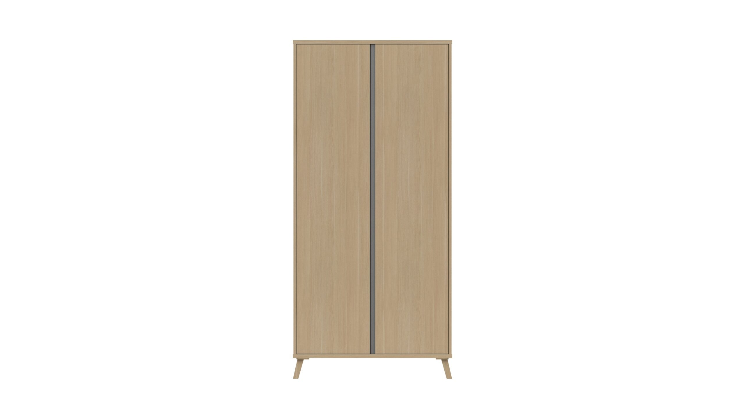 Tamarine Two Door Extra Large Wardrobe - Natural Oak