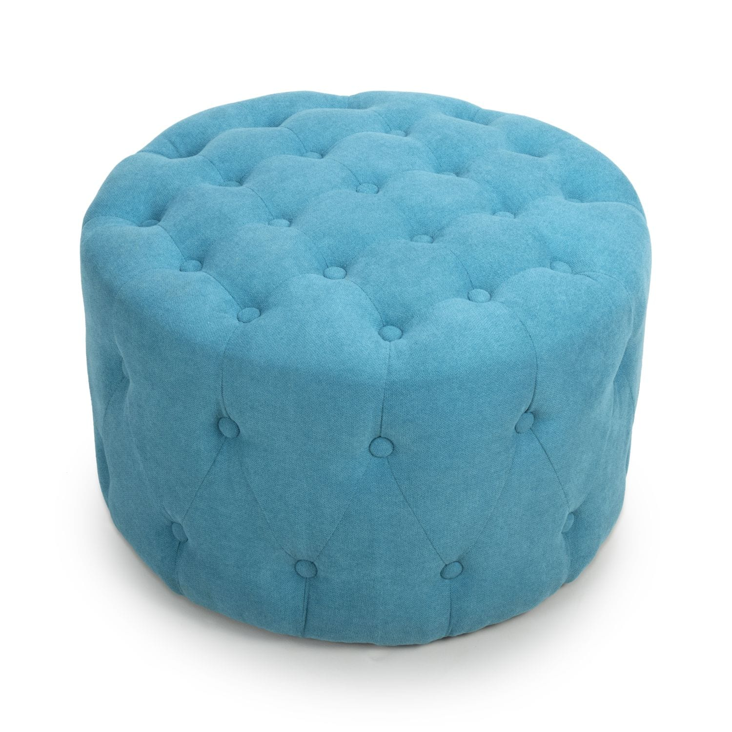Wreschner Small Round Turquoise Pouffe