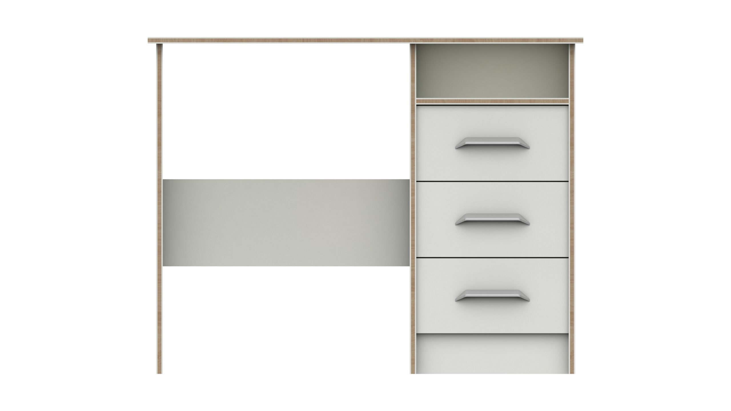 Marianne 3 Draw Dressing Table - White