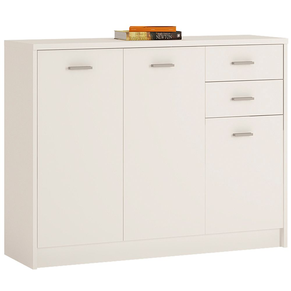 Yours White 3 Door 2 Drawer Wide cabinet