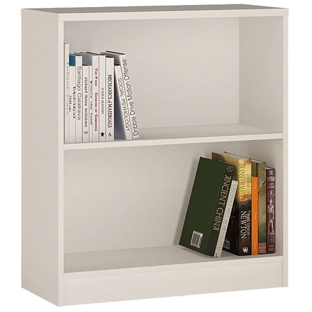 Yours White Low Wide Bookcase
