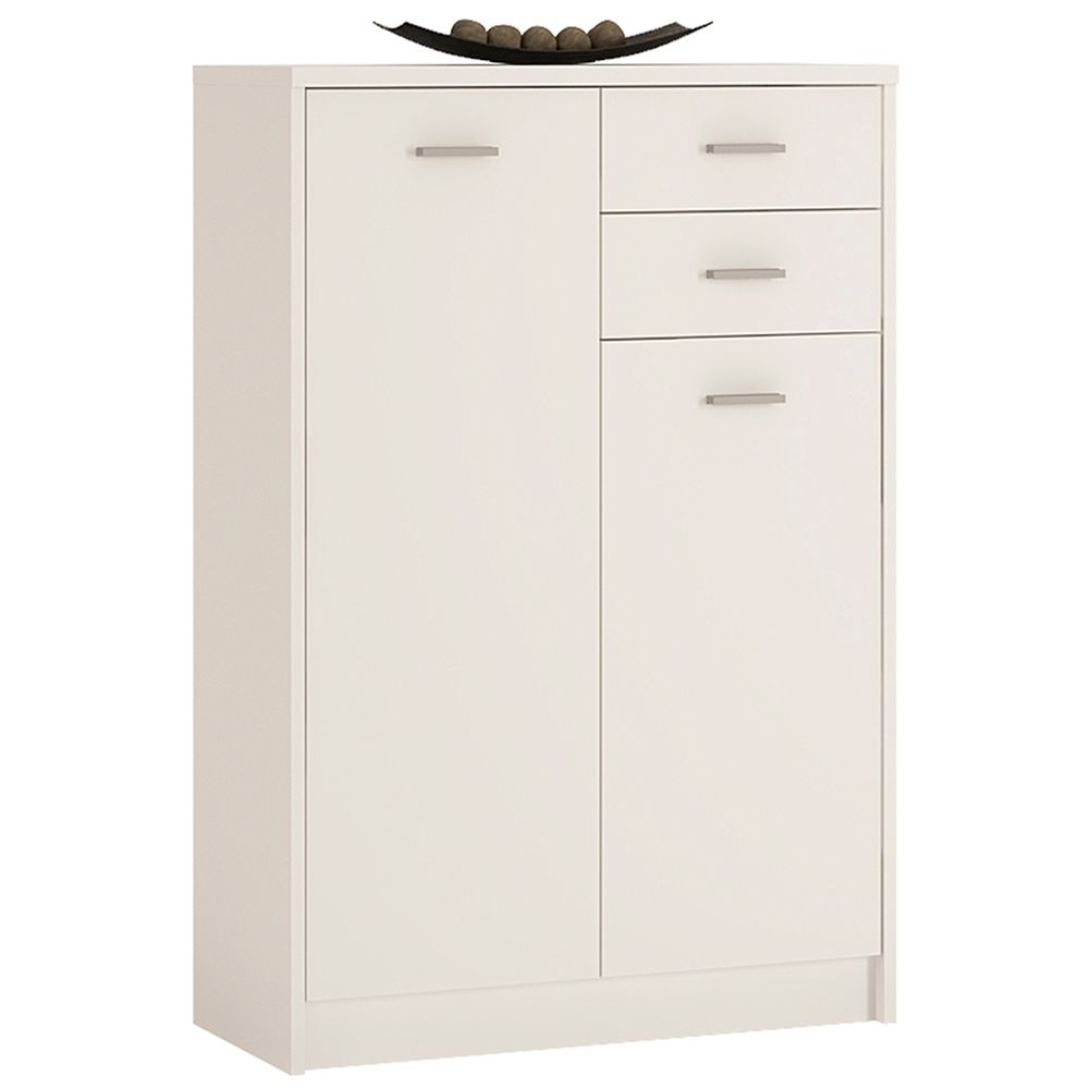 Yours White Tall 2 Door 2 Drawer Cabinet