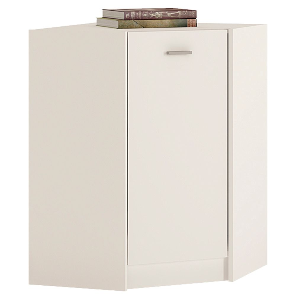 Yours White Corner Cabinet