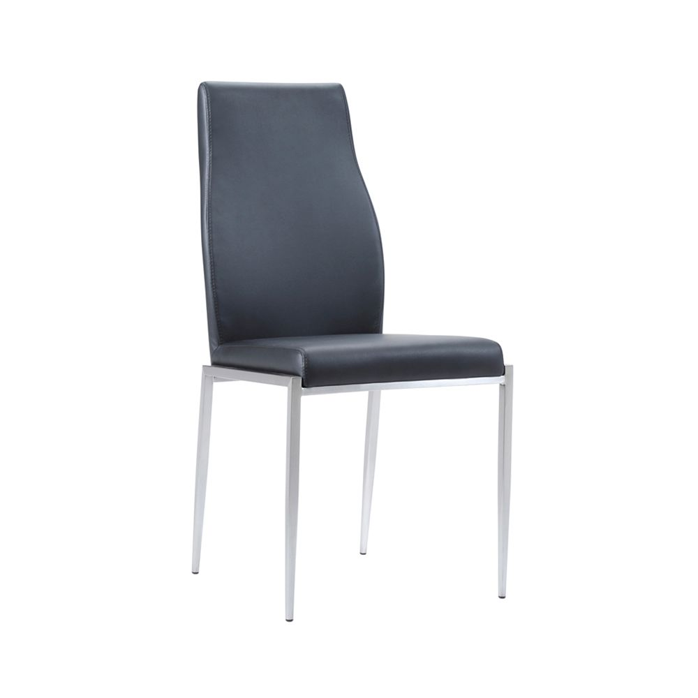 Lillie High Back Chair Black Leather
