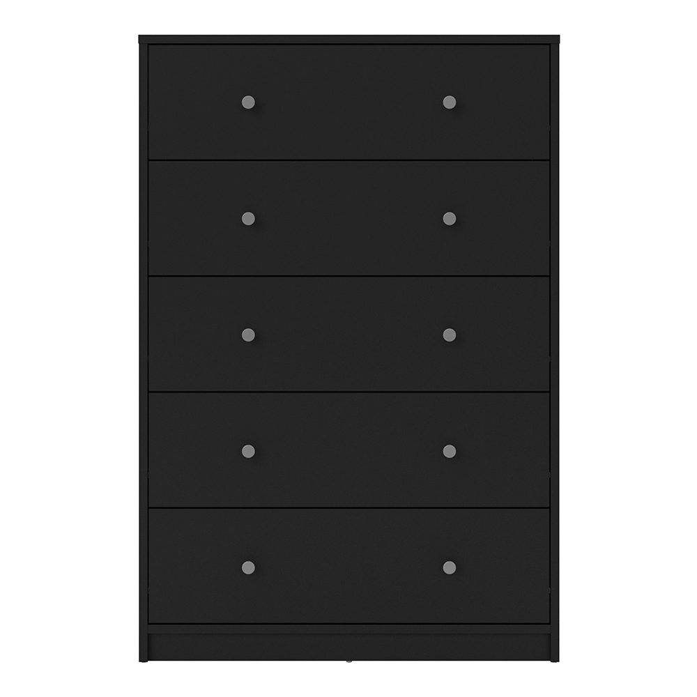 Chest Of 5 Drawers In Black