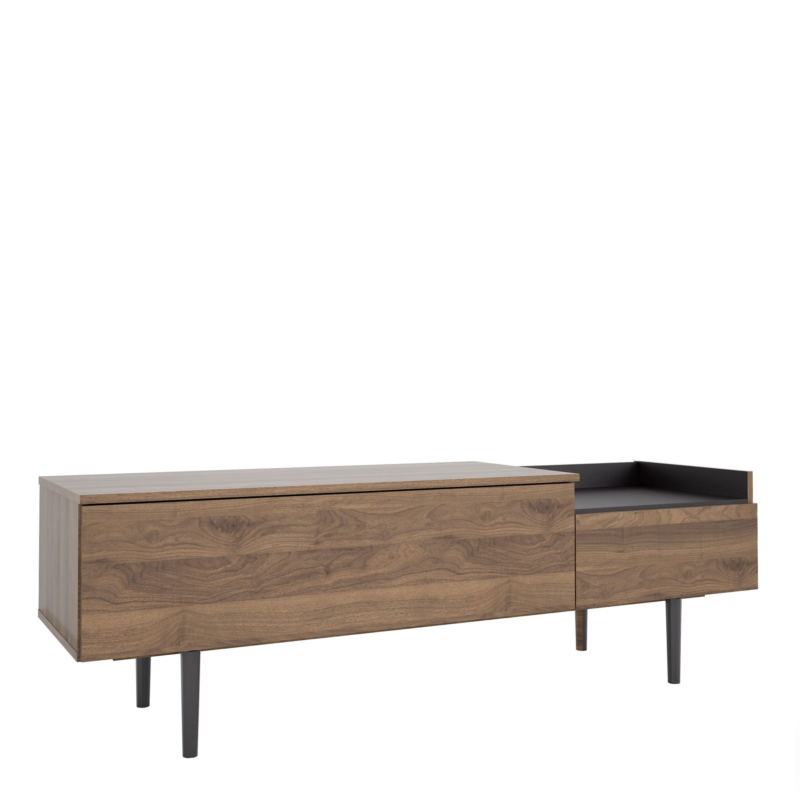 Unity Sideboard 2 Drawers in Walnut and Black