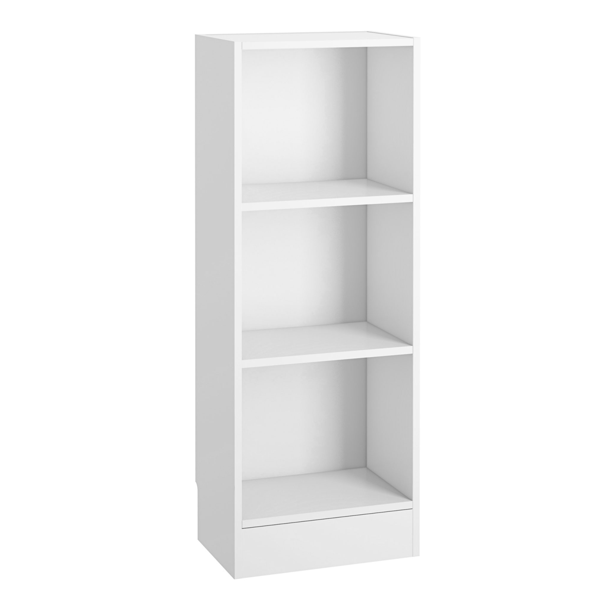 Duday Low Narrow Bookcase (2 Shelves) in White