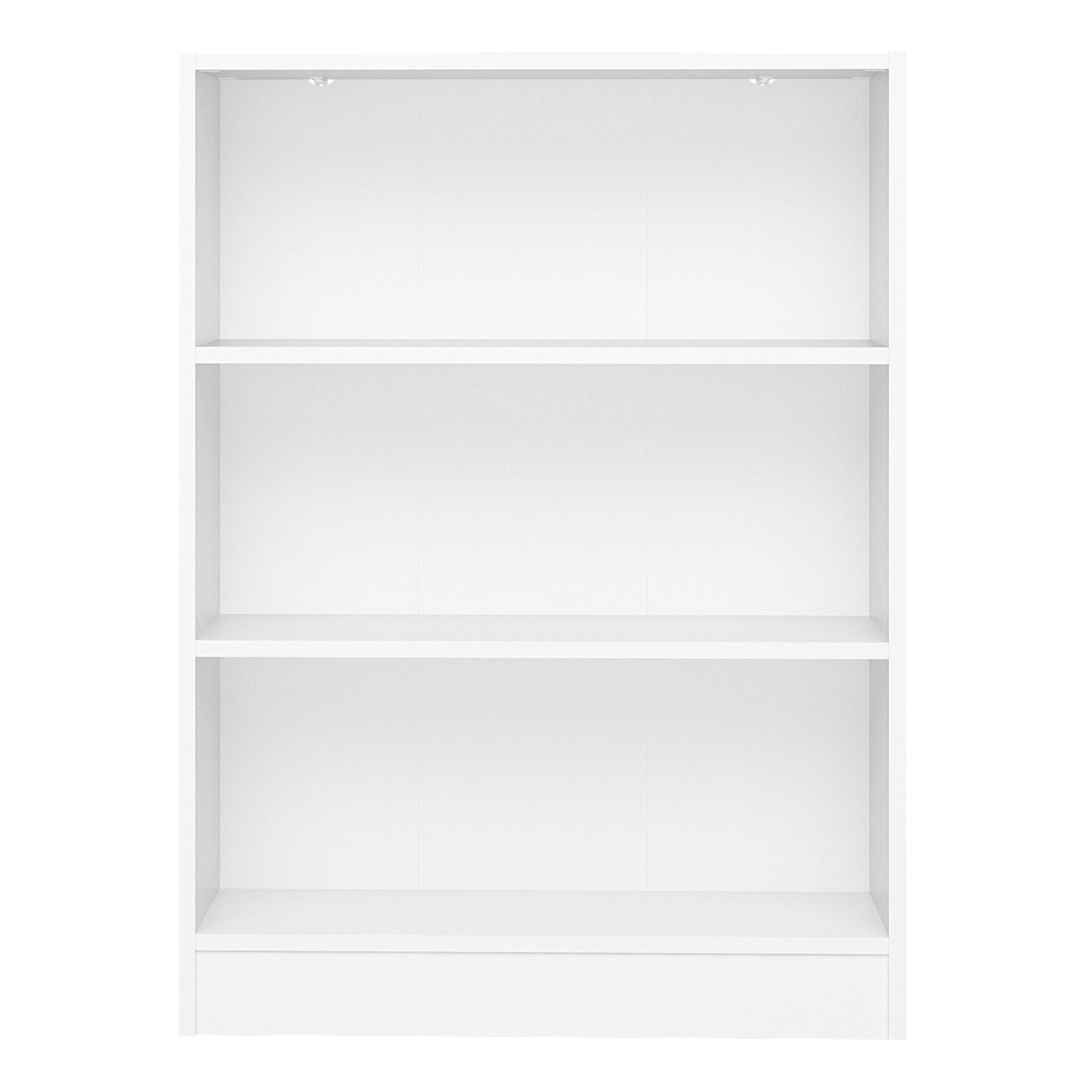 Duday Low Wide Bookcase (2 Shelves) in White
