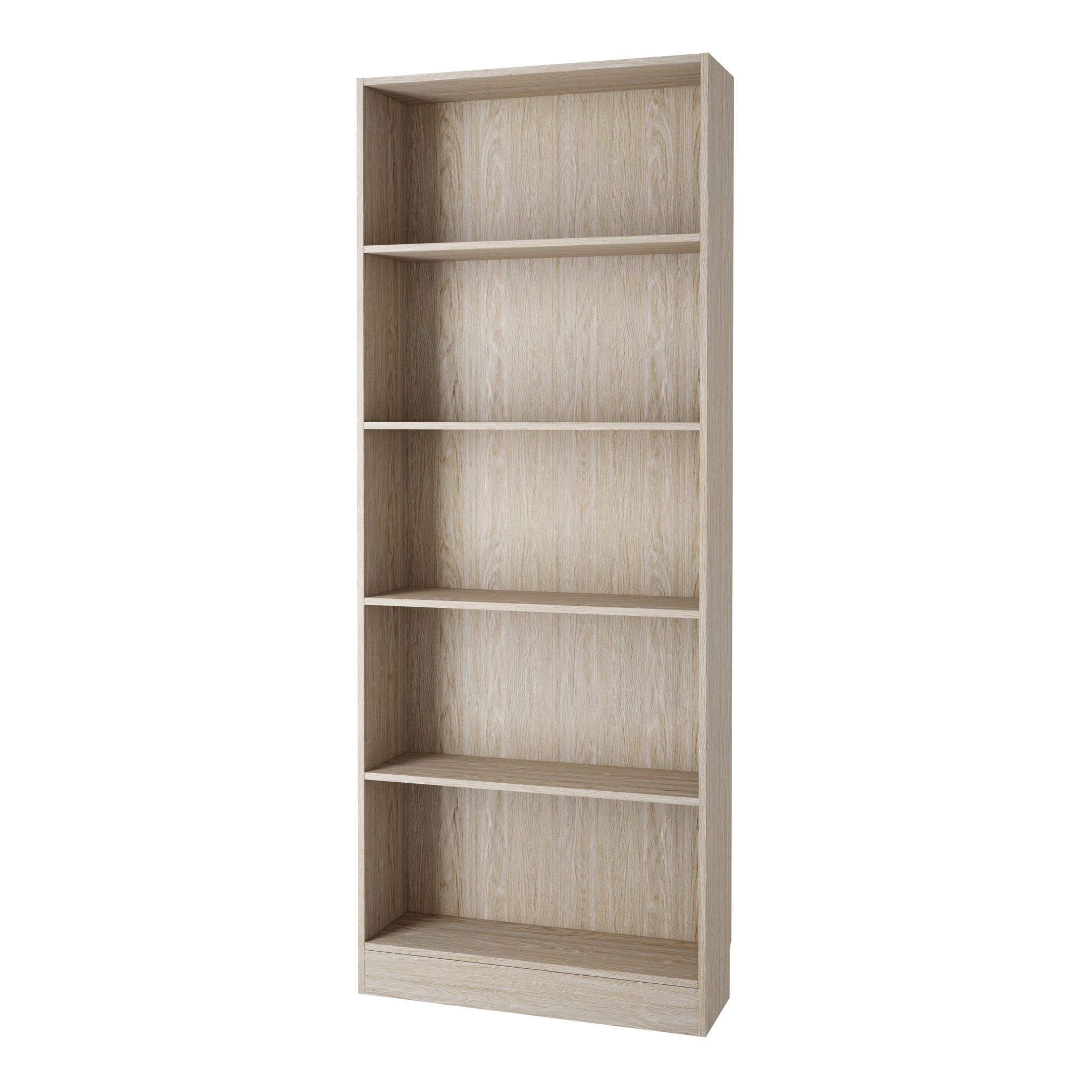 Duday Tall Wide Bookcase (4 Shelves) In Oak
