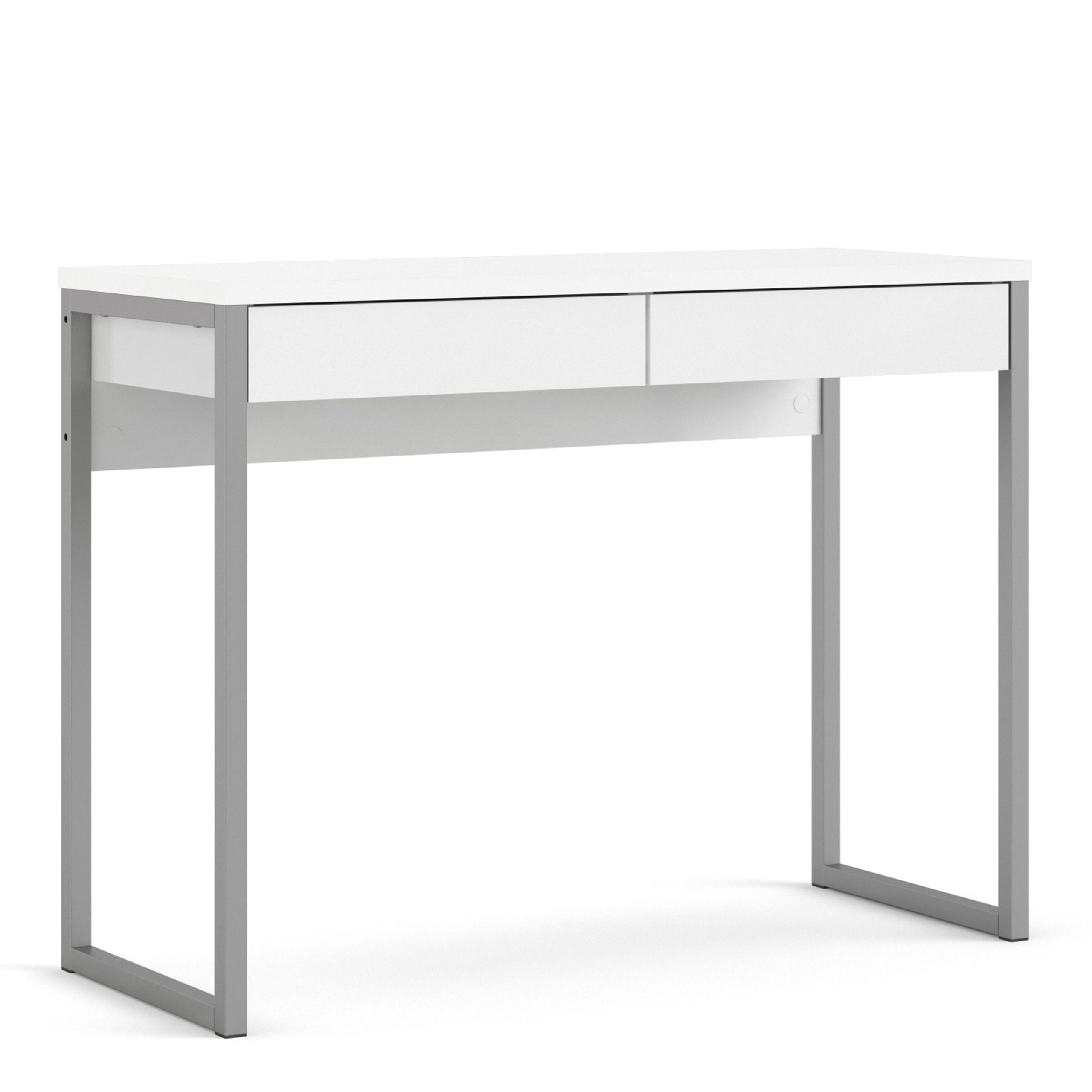 Fosy Desk 2 Drawers in White High Gloss