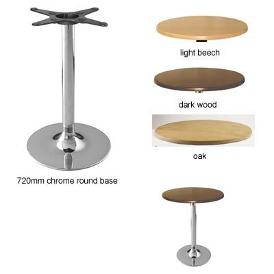 Loney Chrome Kitchen Dining Table With Trumpet Round Base - Wenge