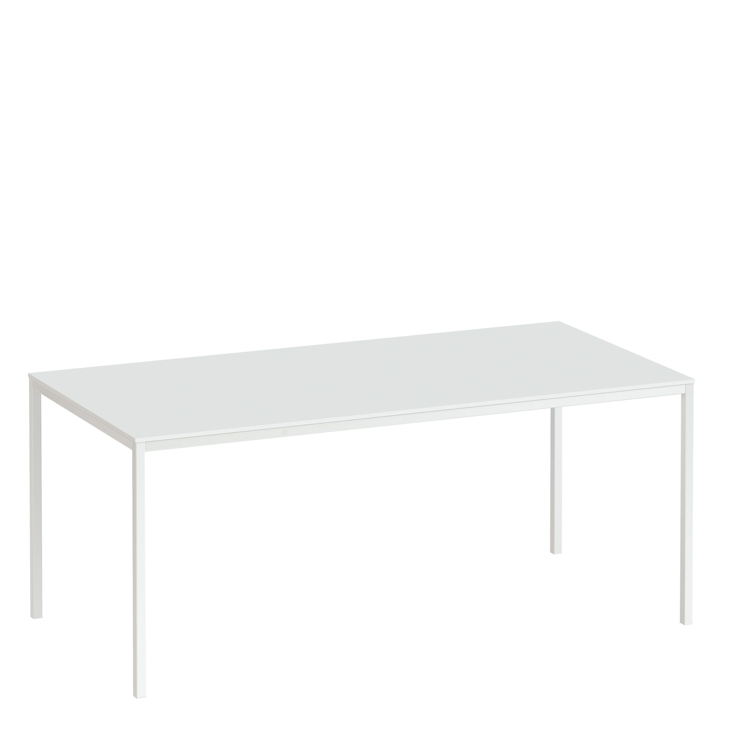 Folks Dining Table 140cm White Table Top with White Legs
