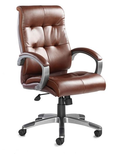 Cayton Brown Office Leather Faced Managers Chair