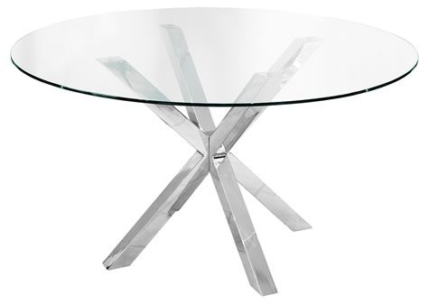 Daphene Large Glass Table 137Cm Round Table