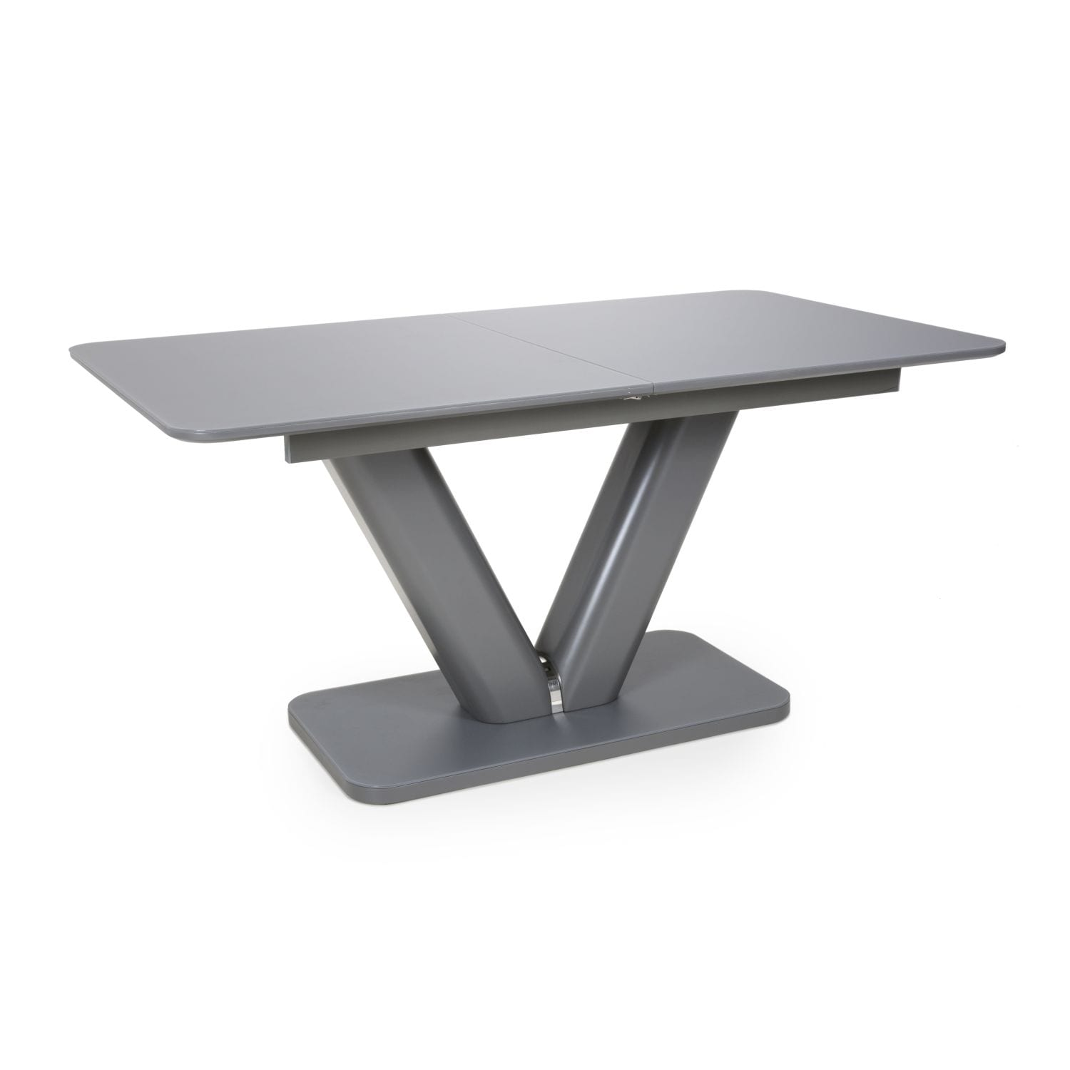 Mercury Extra Large Extendable Grey Tempered Glass Dining Table