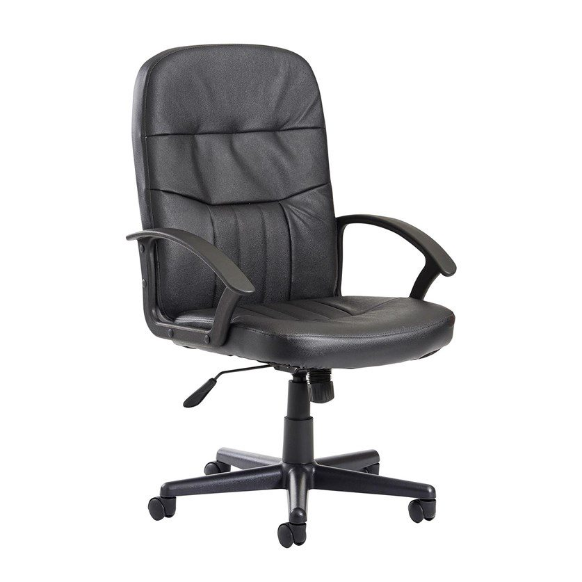 Alier High Black Leather Faced Executive Office Chair Support