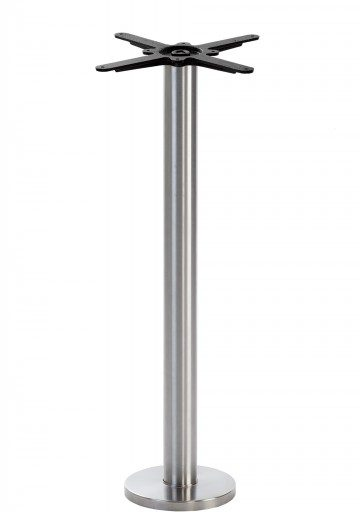 Stainless Steel Round Floor Fixed Table Base - Poseur height - 1050 mm