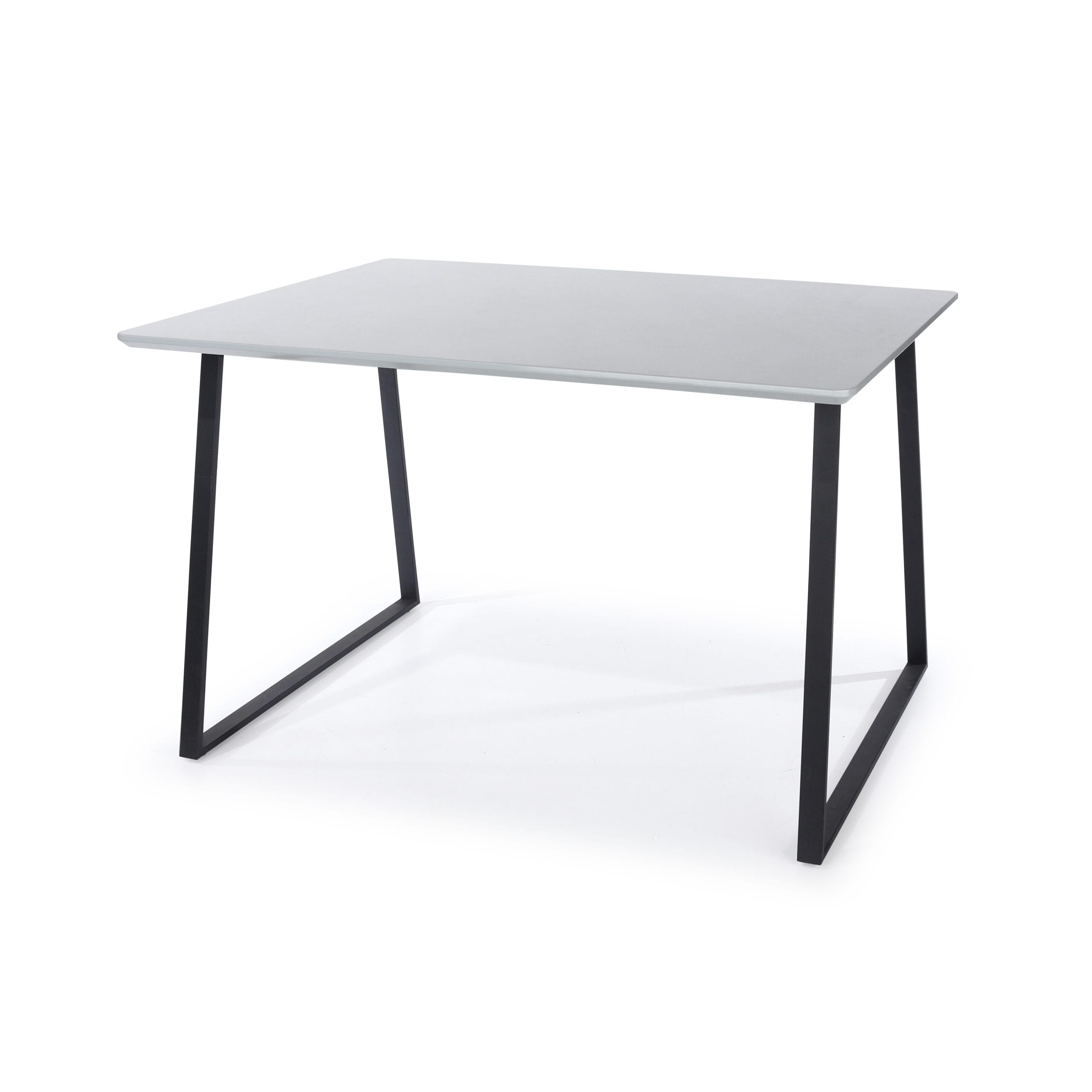 Drake rectangular table with black metal legs