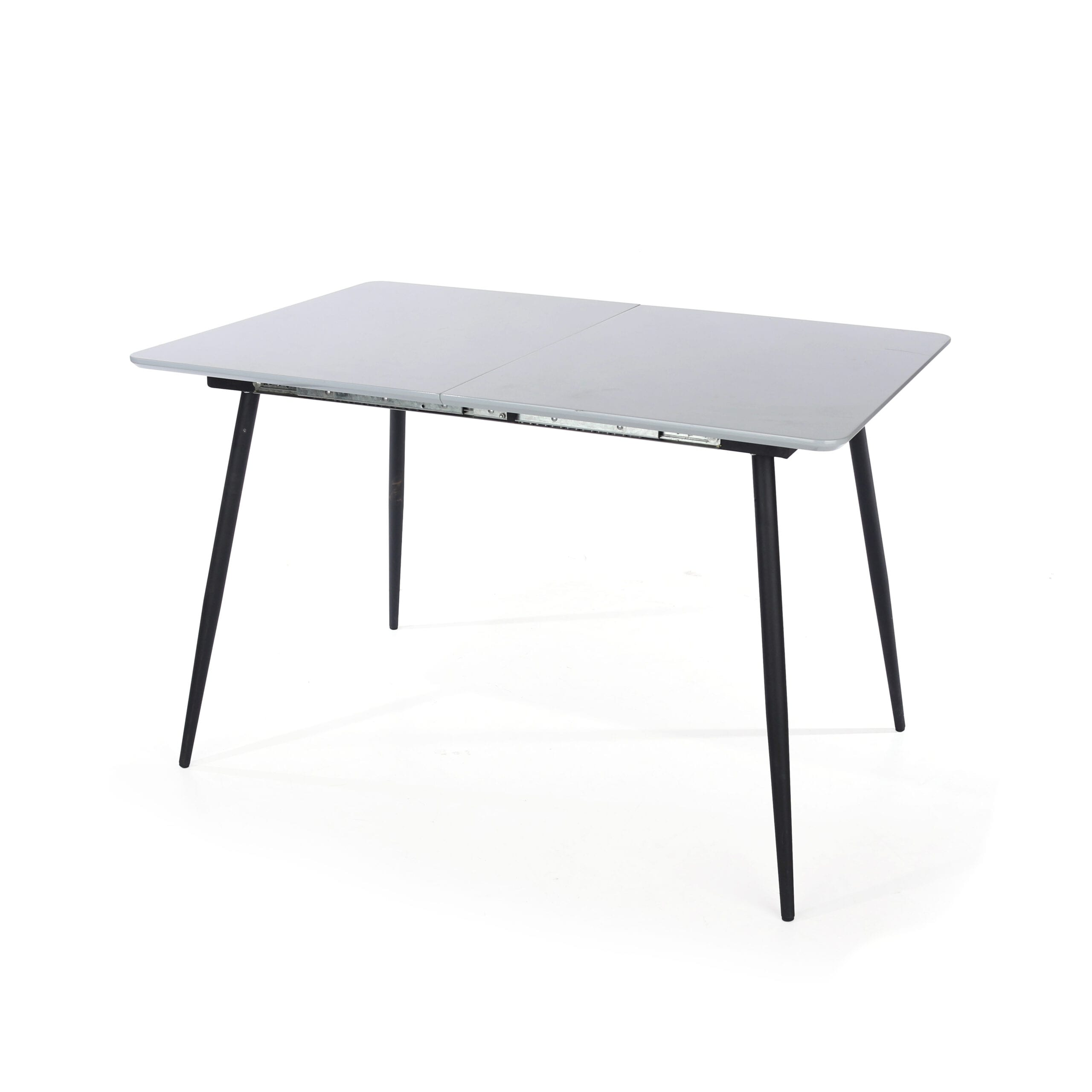 Drake rectangular exttending table with metal legs