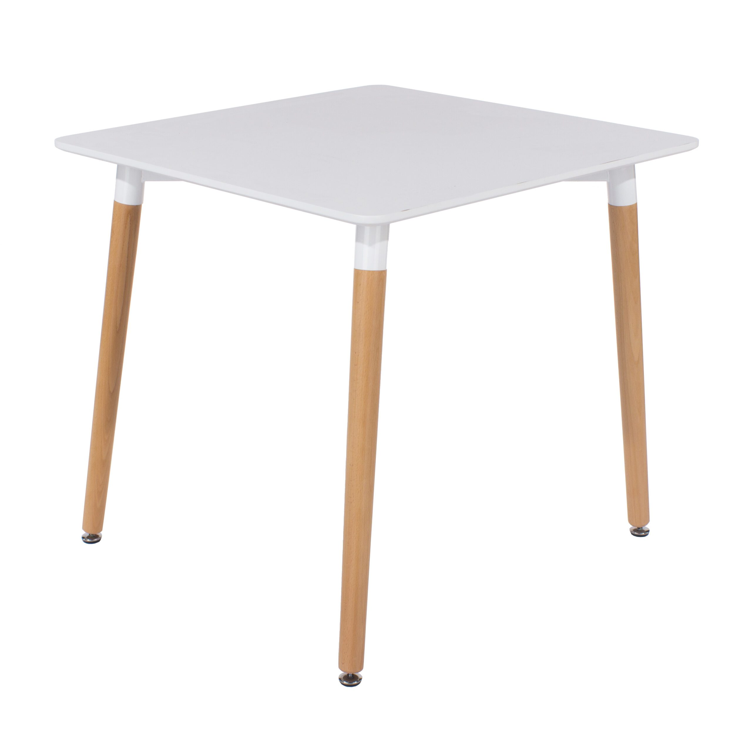 Penny square table with wooden legs