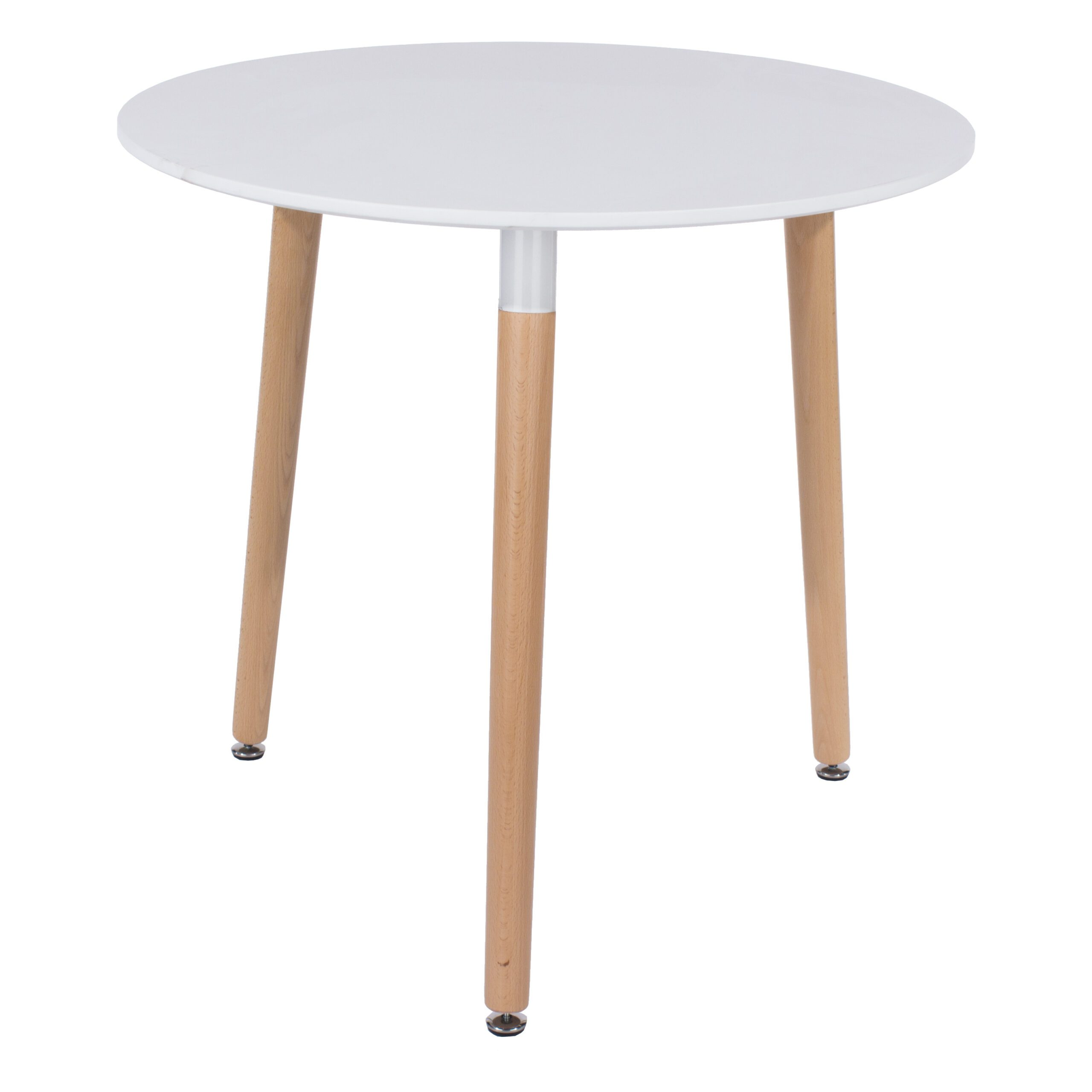 Penny Round Table Wooden Legs White