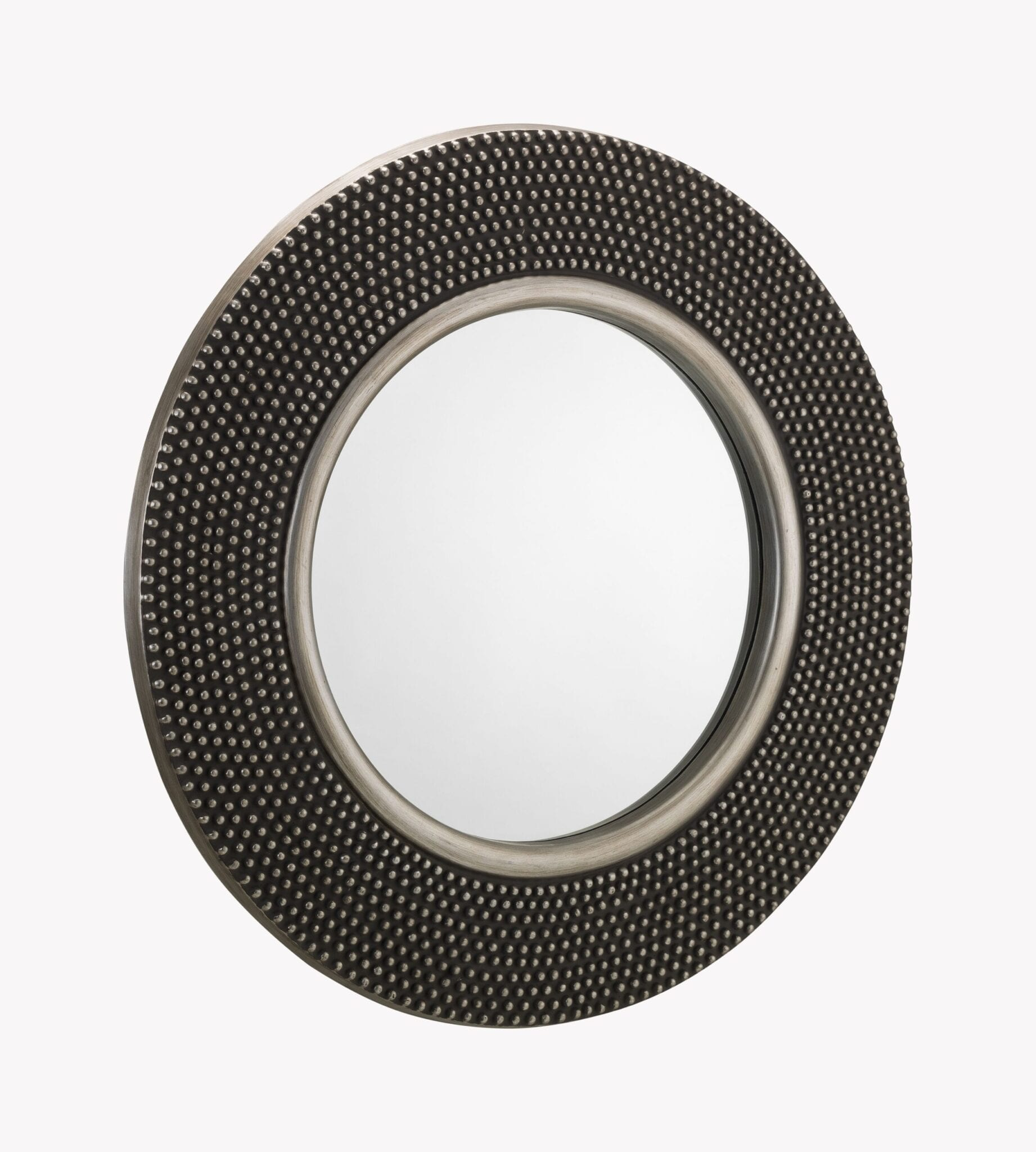 Favelli Round Studded Wall Mirror