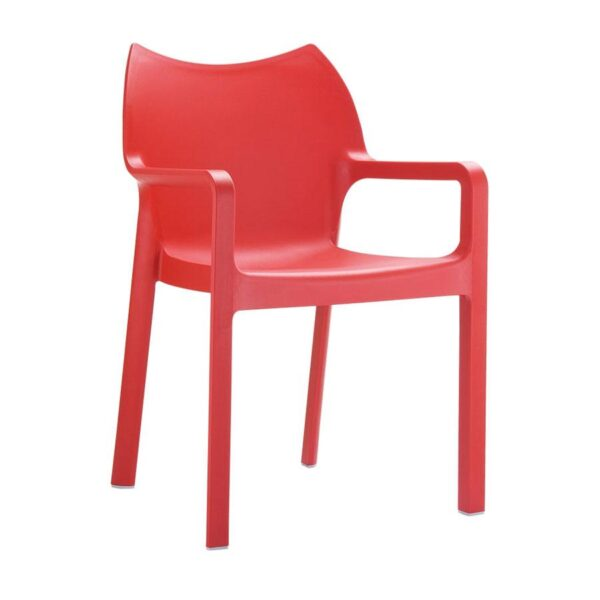 Poncho Arm Chair Glass Fibre Rein Cement - Red
