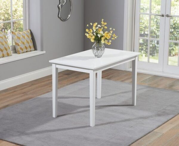 Chester Solid Hardwood & Painted 115cm Dining Table - White