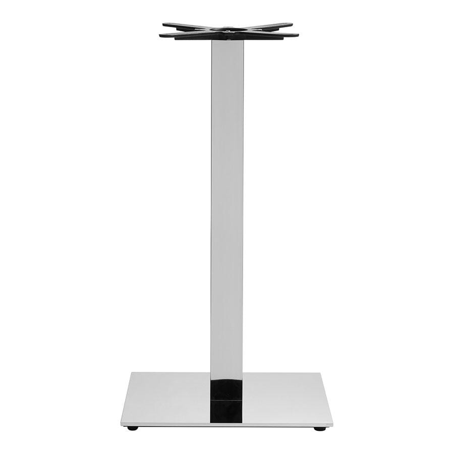 Bromley Sleek Base - Mirrored Chrome Large Square - Mid Height