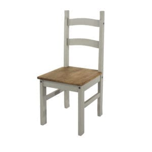 Coson Grey Solid Pine Chairs (Pair)