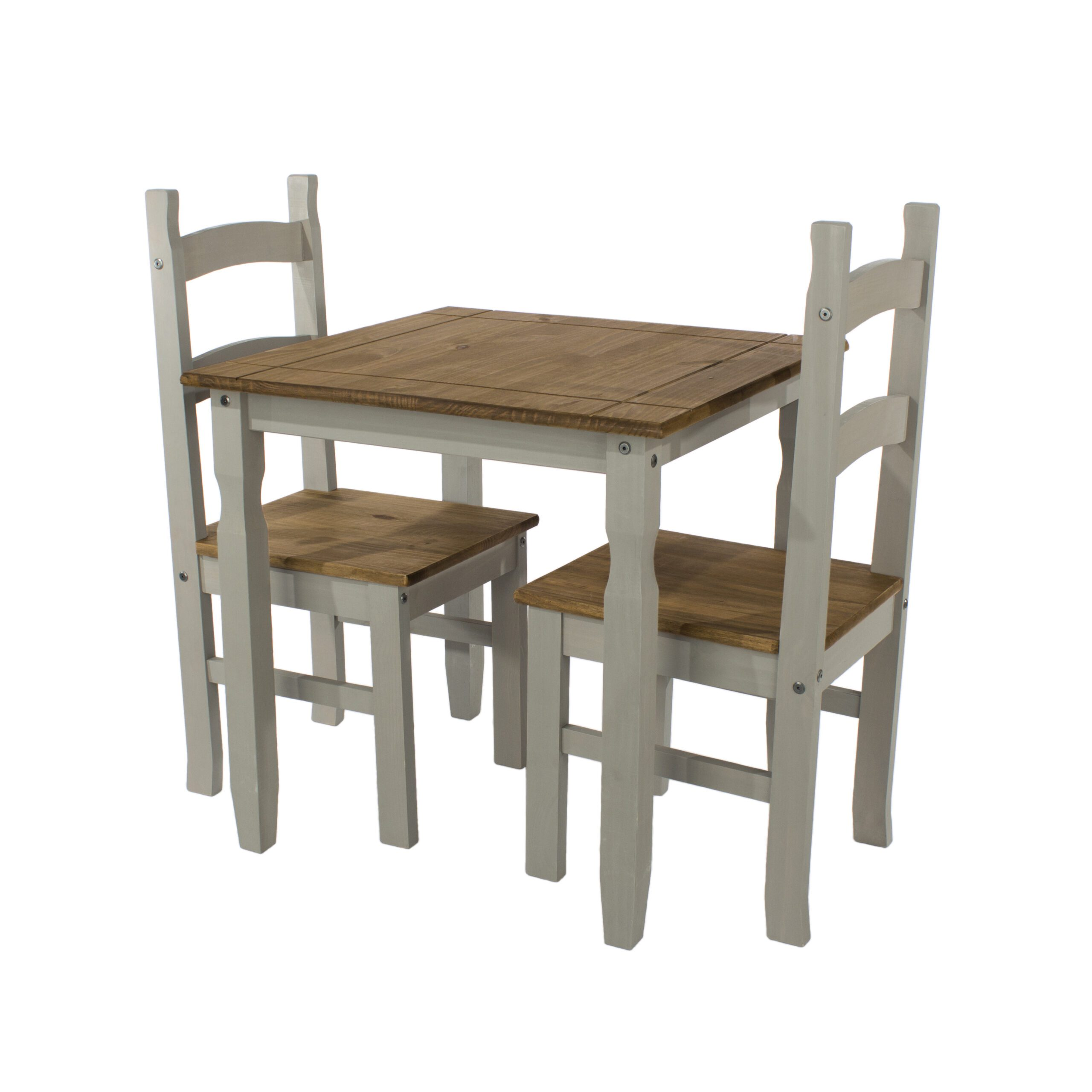 Coson Grey Square Table & 2 Chair Set