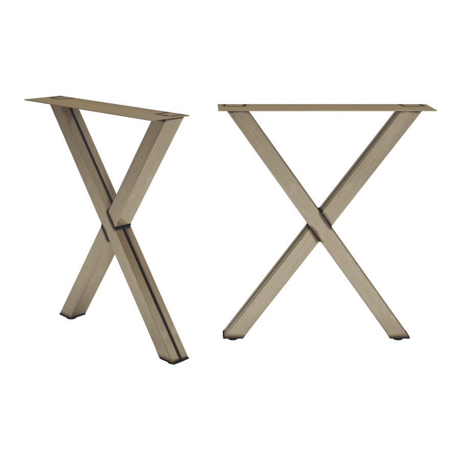Derry Double Cross Base - Raw Steel - Clear Lacquer