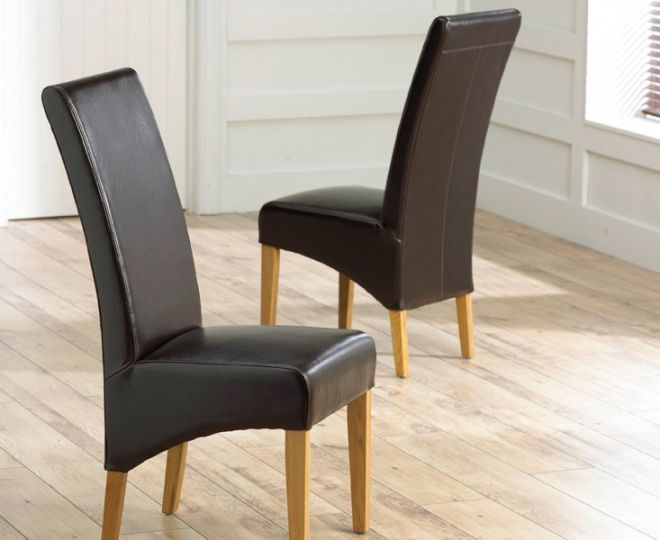 Piza Brown Chair (Pairs)