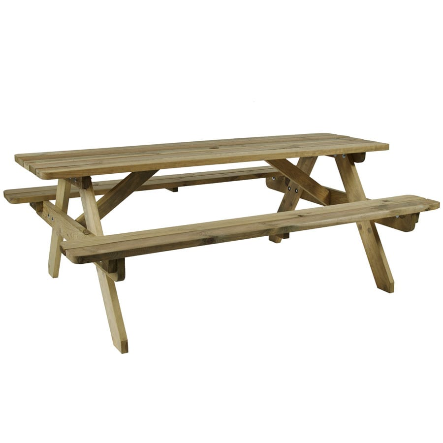 Heart Dshire Picnic Table - 6 Seater
