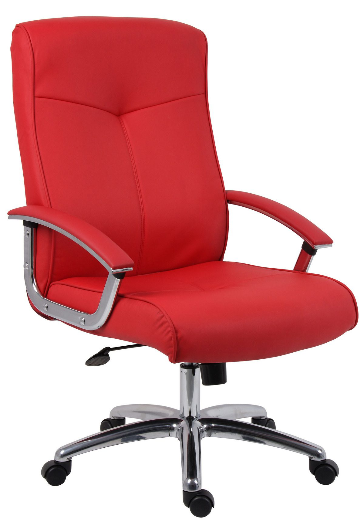 Ler Leather Faced Office Chair Red