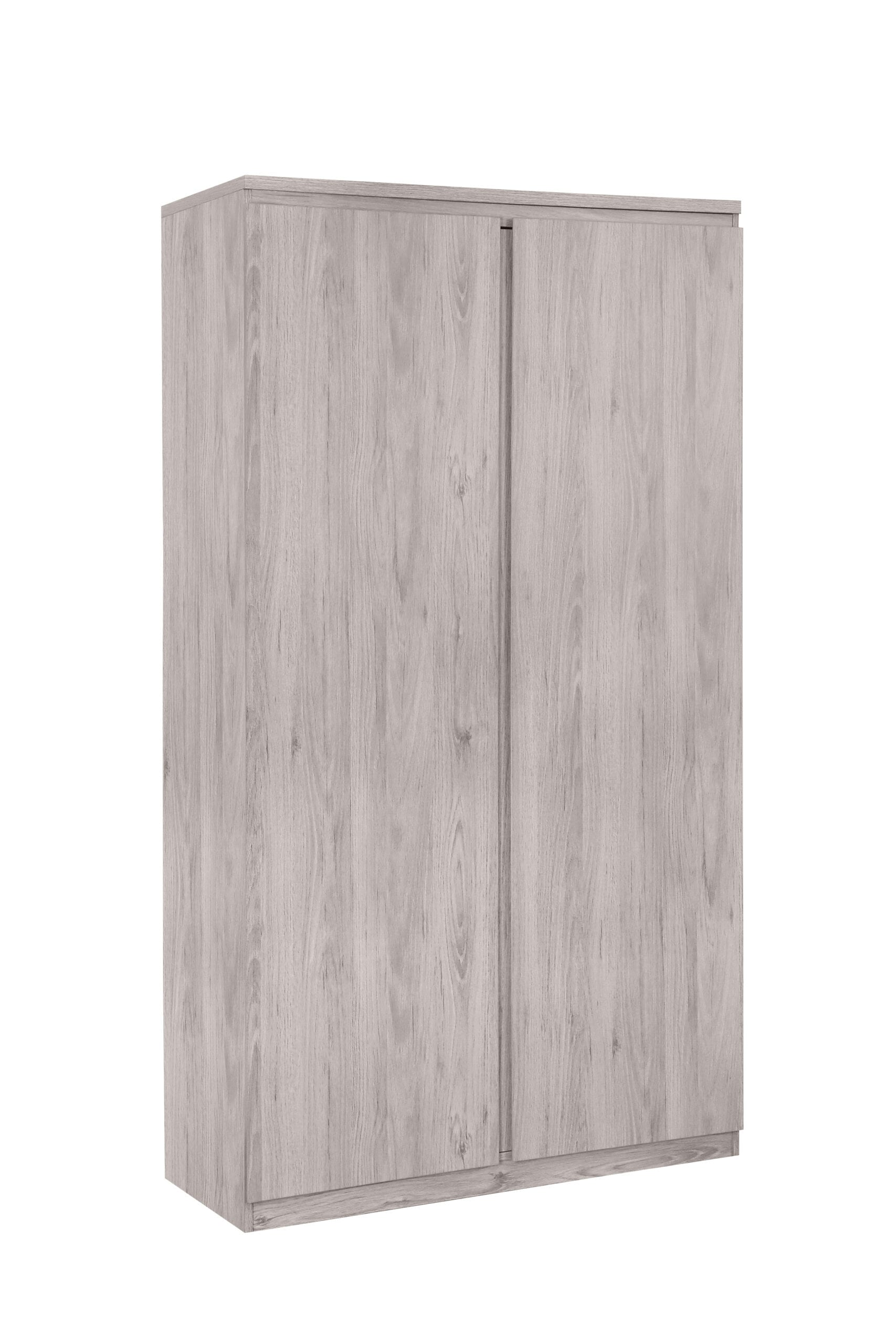 PLUTO 2 DOOR WARDROBE GREY OAK