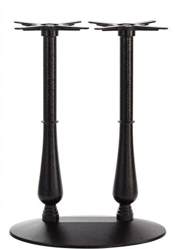Black Cast Iron Candelabra Table Base - Twin - Poseur height - 1100 mm