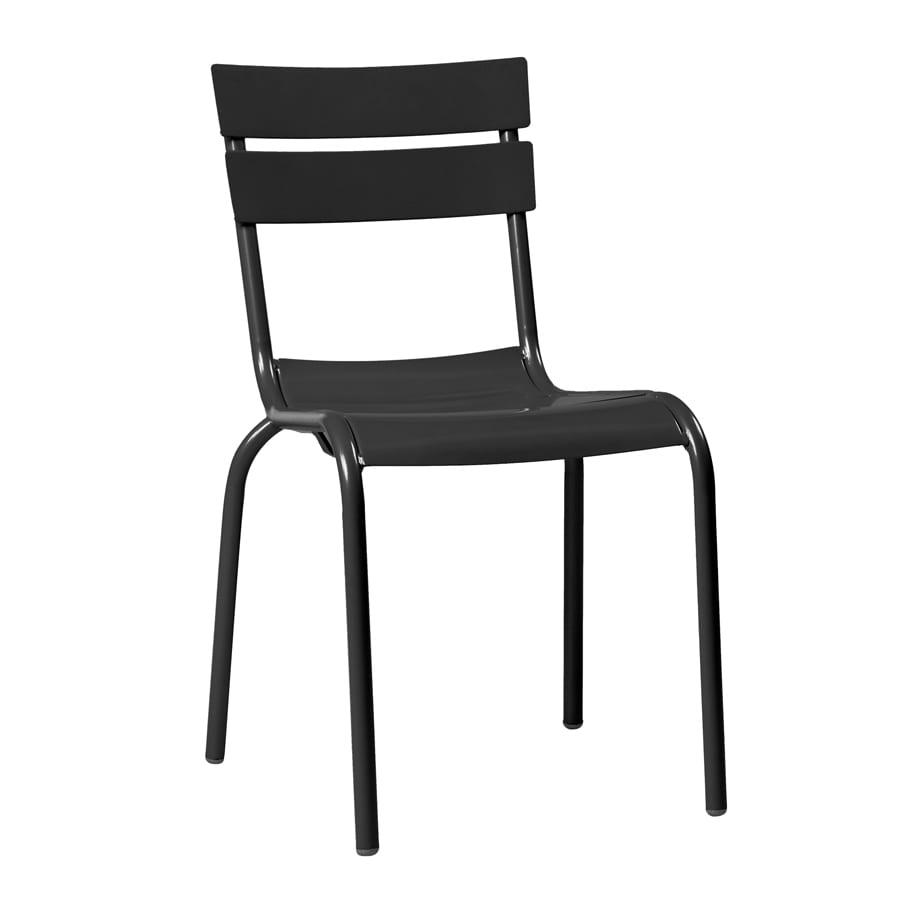 Manalo Stacking Alu Outdoor Side Chair - Black