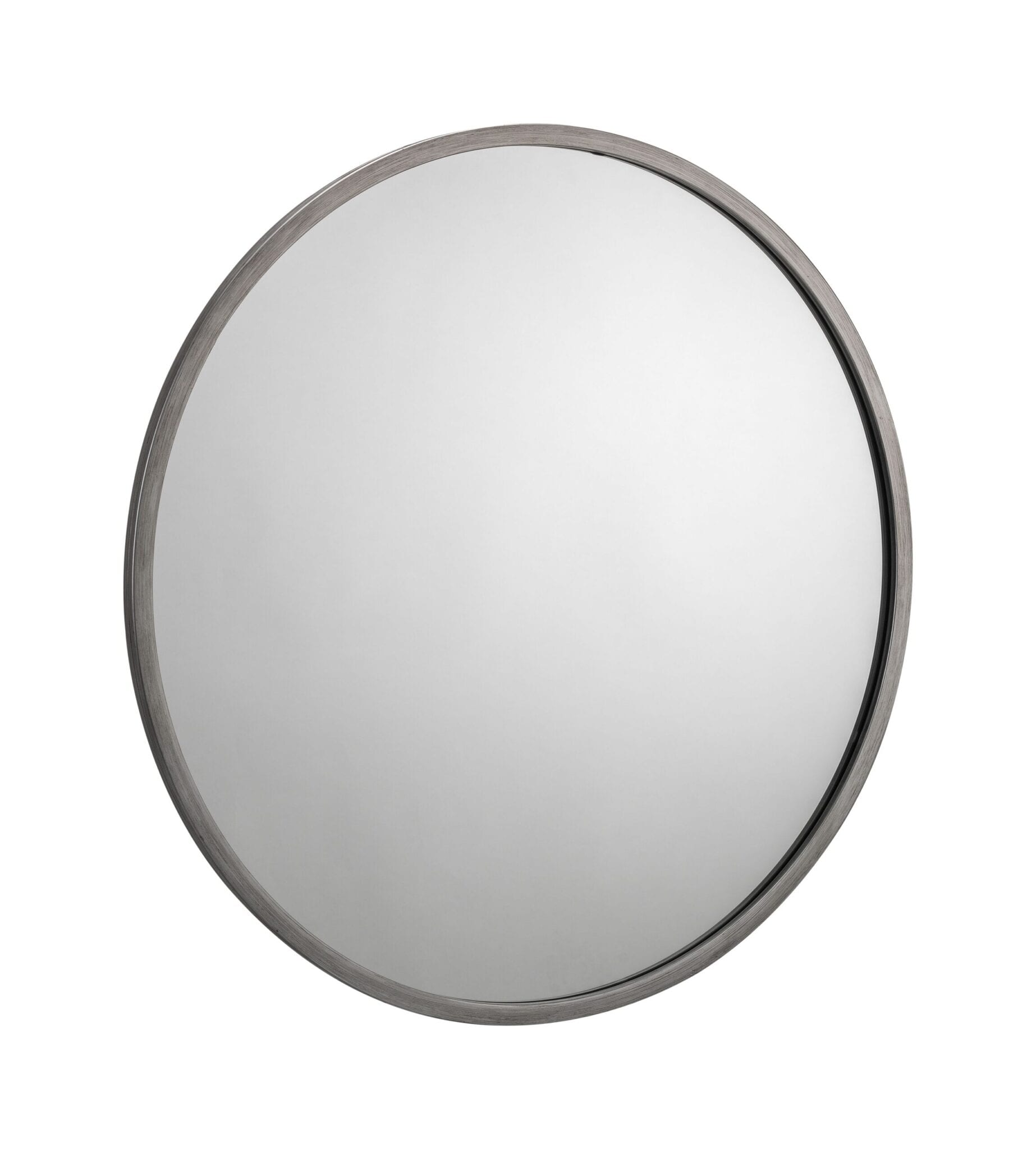 Mordent Round Pewter Wall Mirror