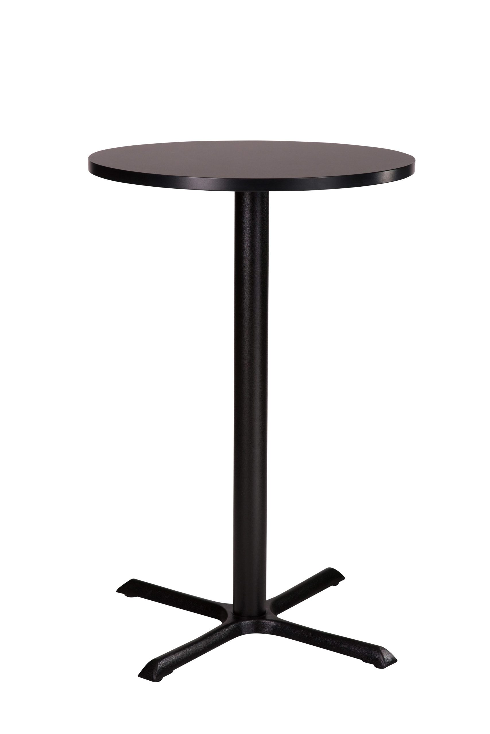 Elliot Black Coffee Table Base Round Solid Wood Top
