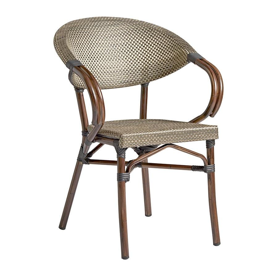 Parlance Stacking Arm Chair - Gold & Black Weave